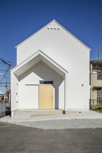 泉大津の家-triangle roof-